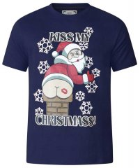 D555 Naughty X-mas T-shirt Navy