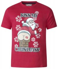 D555 Naughty X-mas T-shirt Red