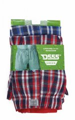 D555 PLAID Boxer Shorts Pack of Two