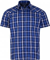Kam Jeans 6143 Short Sleeve Shirt Navy