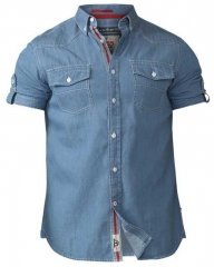 D555 Nathan Short Sleeve Shirt Blue