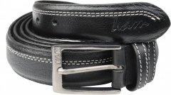 Kam Jeans 916 White Stitch Belt, 4cm