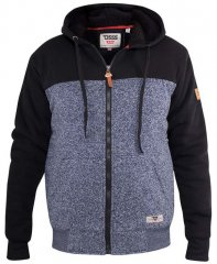 D555 Allen Zip Through Hoody With Sherpa Lining