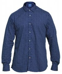 D555 Bainton Long Sleeve Shirt Navy