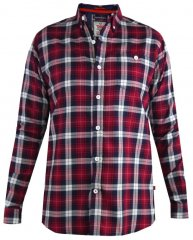 D555 Baltimore Checked Shirt Red