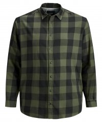 Jack & Jones Gingham L/S Shirt Dusty Olive
