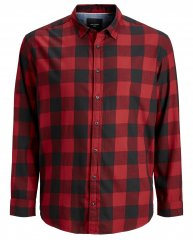 Jack & Jones Gingham Shirt L/S Red