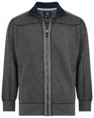 Kam Jeans 7011 Full Zip Sweat Charcoal