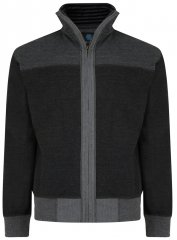 Kam Jeans 715 Full Zip Sweater Charcoal