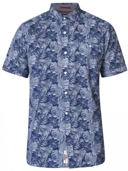 D555 Sheldon Hawaii Shirt Navy - Skjortor - Stora skjortor - 2XL-8XL