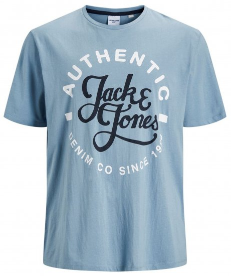 Jack & Jones JJMOON T-shirt Faded Denim - T-shirts - Stora T-shirts - 2XL-8XL