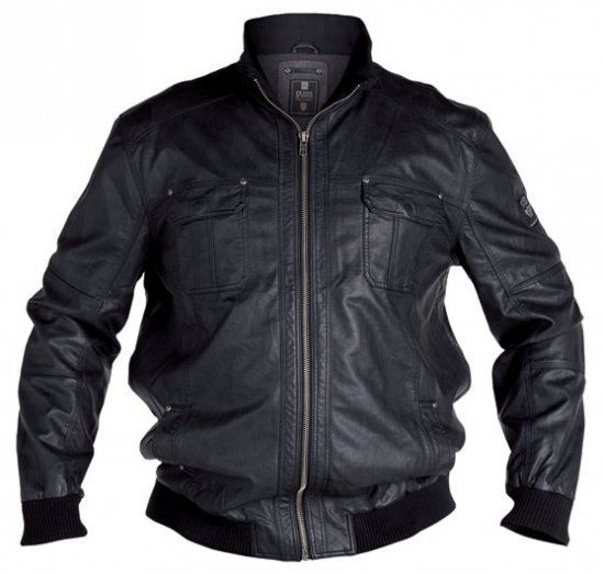 D555 Faux Leather Jacket - Jackor - Stora jackor - 2XL-8XL