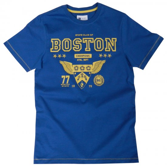 Kam Jeans Boston Tee Blue - T-shirts - Stora T-shirts - 2XL-8XL