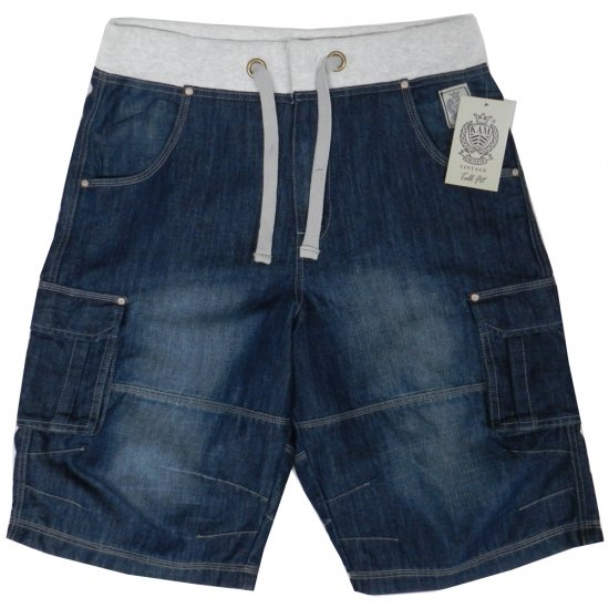 Kam Jeans James 2 Denim Shorts - Shorts - Stora shorts W40-W60