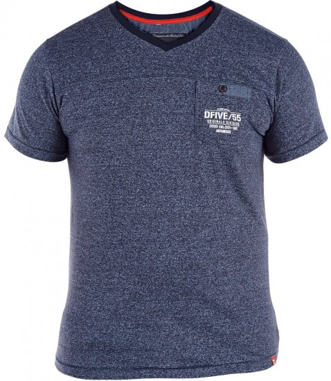 D555 Keith T-shirt Blue with pocket - T-shirts - Stora T-shirts - 2XL-8XL