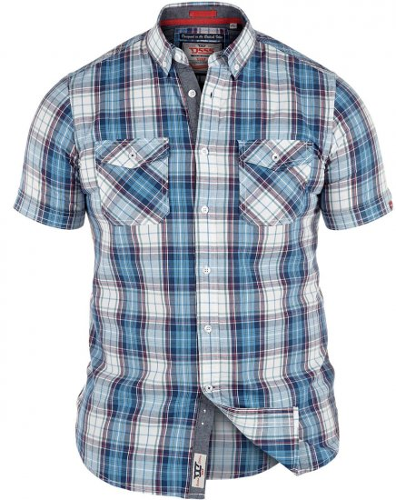 D555 Everett Twin Pocket Short Sleeve Shirt - Skjortor - Stora skjortor - 2XL-8XL