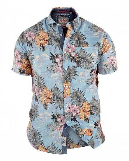 D555 Honolulu Short Sleeve Shirt - Skjortor - Stora skjortor - 2XL-8XL