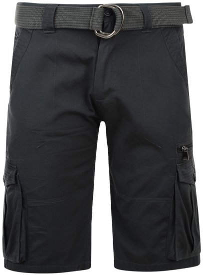 Kam Jeans Belted Cargo Shorts Charcoal - Shorts - Stora shorts W40-W60