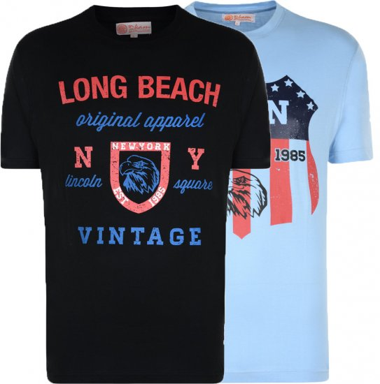 Kam Jeans Long Beach 2-pack - T-shirts - Stora T-shirts - 2XL-8XL