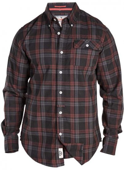 D555 Hubert One Pocket Check Shirt - Skjortor - Stora skjortor - 2XL-8XL