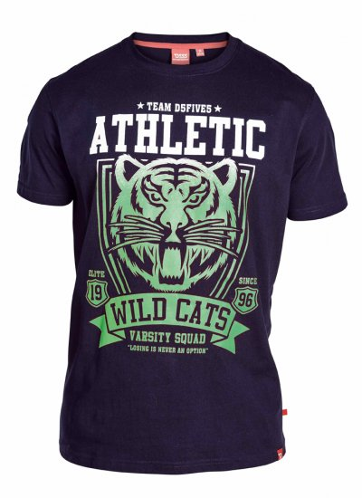 "D555 STACY ""Wild Cats"" T-Shirt Navy - T-shirts - Stora T-shirts - 2XL-8XL"