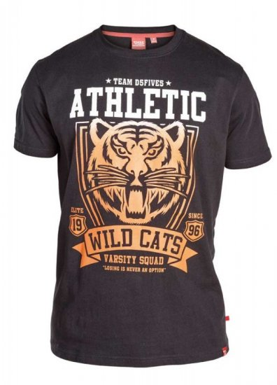 "D555 STACY ""Wild Cats"" T-Shirt Black - T-shirts - Stora T-shirts - 2XL-8XL"