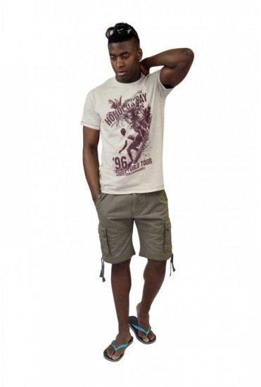 D555 CLAYTON Honolua Bay T-shirt White Marl
