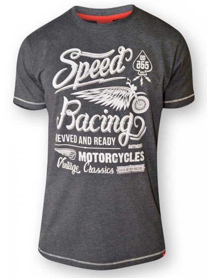 D555 CORTEZ Speed Racing T-Shirt Black - T-shirts - Stora T-shirts - 2XL-8XL