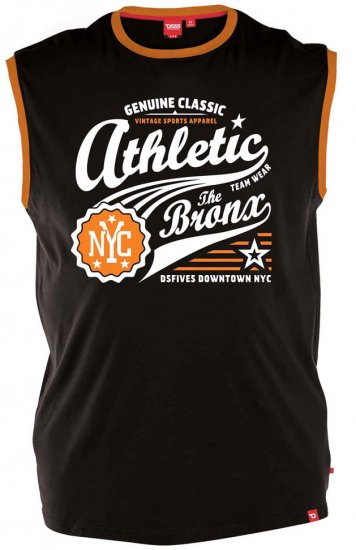 D555 JOVAN Athletic Sleeveless T-shirt Black - T-shirts - Stora T-shirts - 2XL-8XL