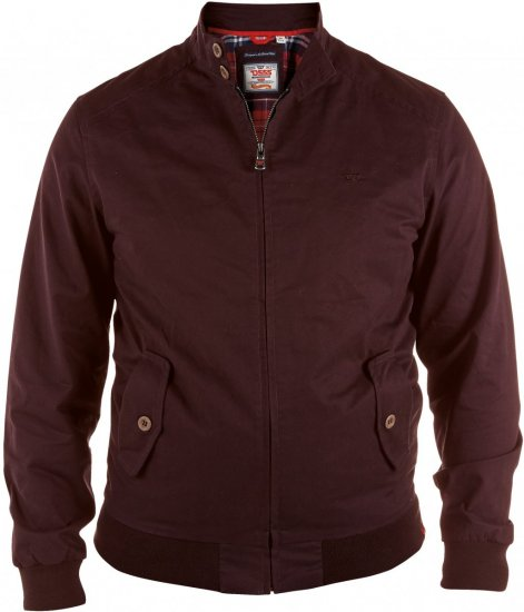 D555 Windsor Cotton Harrington Jacket Burgundy - Jackor - Stora jackor - 2XL-8XL
