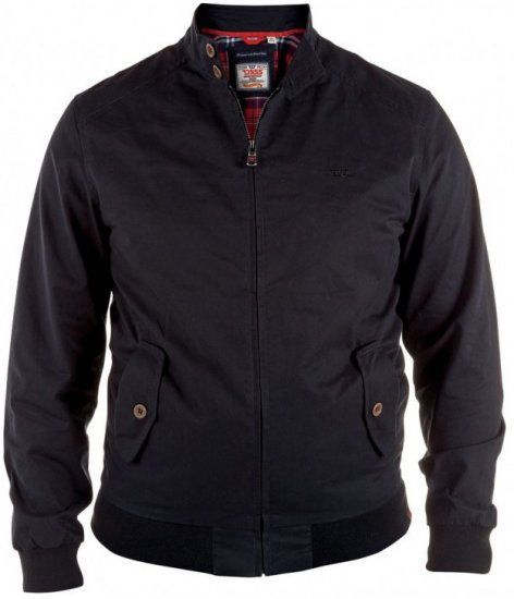 D555 Windsor Cotton Harrington Jacket Black - Jackor - Stora jackor - 2XL-8XL