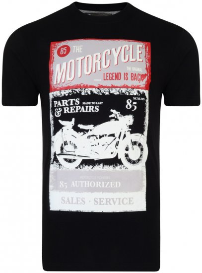 Kam Jeans Motorcycle Tee - T-shirts - Stora T-shirts - 2XL-8XL