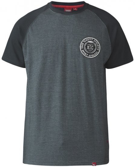 D555 Spencer T-shirt Charcoal - T-shirts - Stora T-shirts - 2XL-8XL