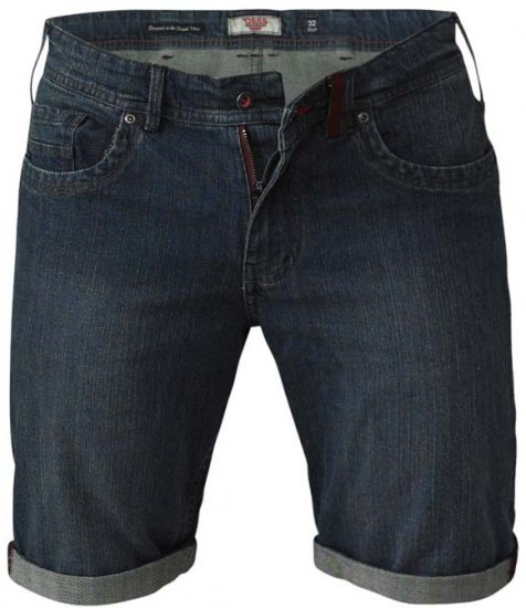 D555 Arix Denim Stretch Shorts - Shorts - Stora shorts W40-W60