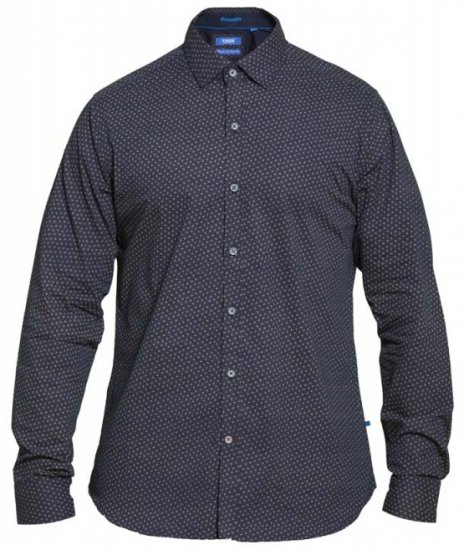 D555 Babworth Long Sleeve Shirt Navy - Skjortor - Stora skjortor - 2XL-8XL
