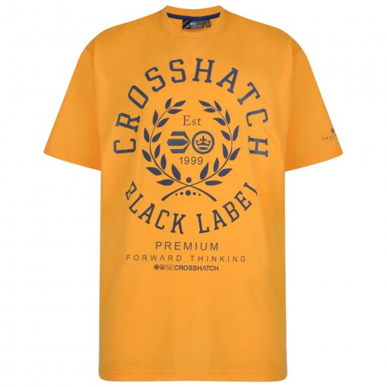 Crosshatch Laygos T-shirt Yellow - T-shirts - Stora T-shirts - 2XL-8XL