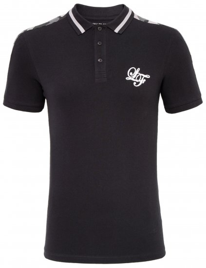 Loyalty & Faith Element Polo Black - Pikétröjor - Stora pikétröjor - 2XL-8XL