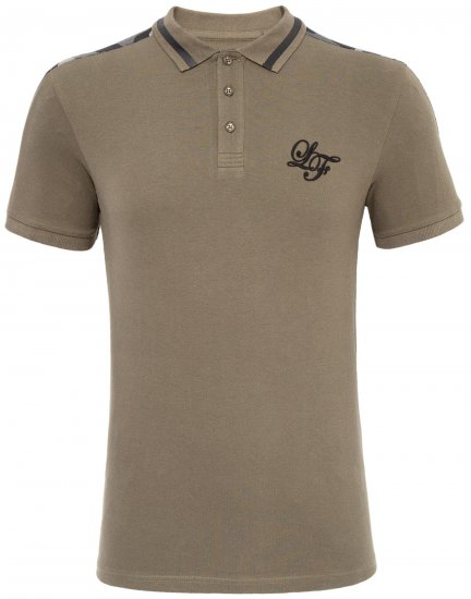 Loyalty & Faith Element Polo Khaki - Pikétröjor - Stora pikétröjor - 2XL-8XL