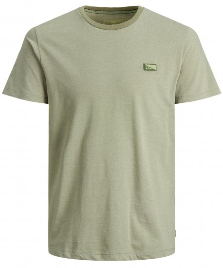 Jack & Jones Schultz Crew Neck T-Shirt Green - T-shirts - Stora T-shirts - 2XL-8XL