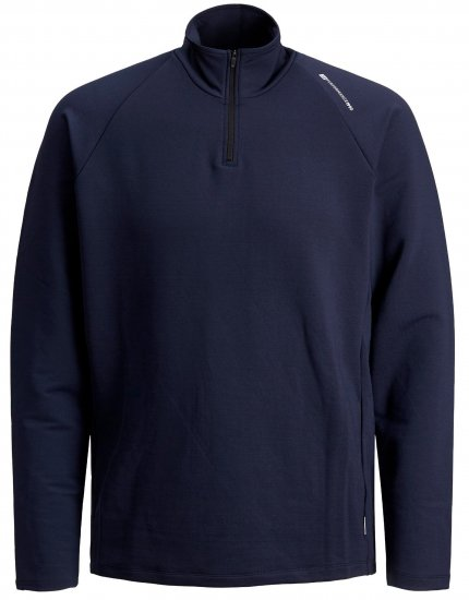 Jack & Jones Running Half Zip Sweat - Tröjor & Hoodies - Stora hoodies - 2XL-8XL