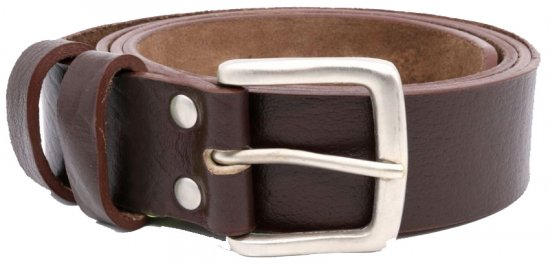 D555 Liam Hand Crafted Real Leather Belt, 3,7cm - Bälten - Långa bälten - W40-W70/2XL-8XL