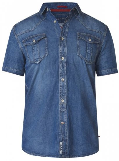 D555 Mike Denim Shirt - Skjortor - Stora skjortor - 2XL-8XL