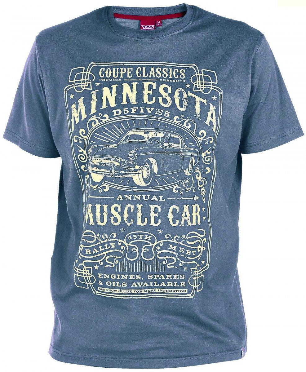 D555 Dayton T-shirt Blue i stora storlekar - MotleyDenim.se b6e0b861ff3a7