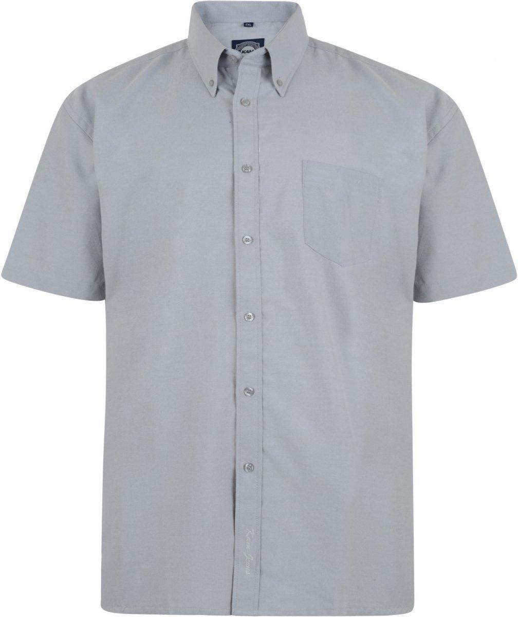 caa6d2713aeb Kam Oxfordskjorta Kort ärm Grå - Skjortor - Stora skjortor - 2XL-8XL