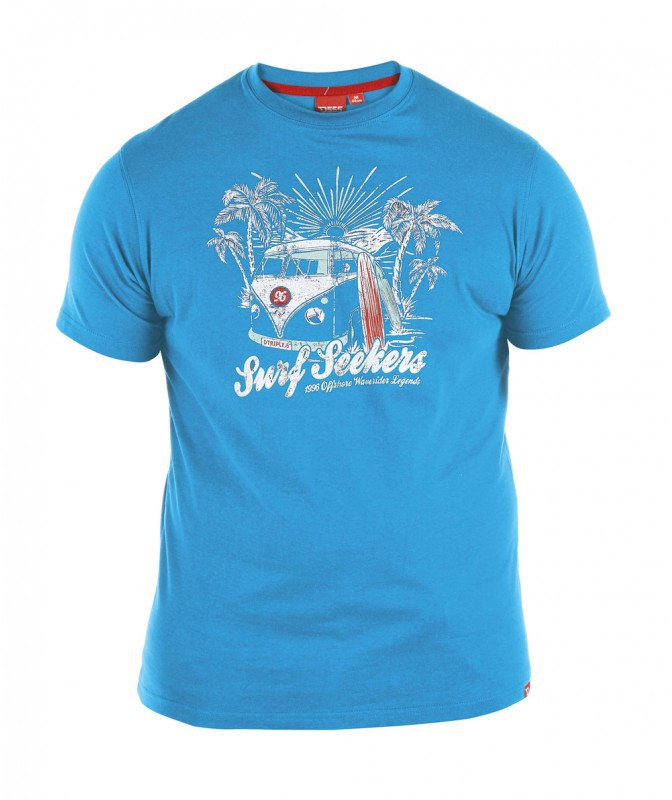 D555 Magnus T-shirt Blue i stora storlekar - MotleyDenim.se a51f7a124ceba