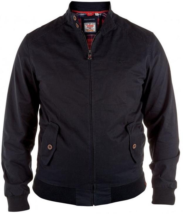 D555 Windsor Cotton Harrington Jacket Black
