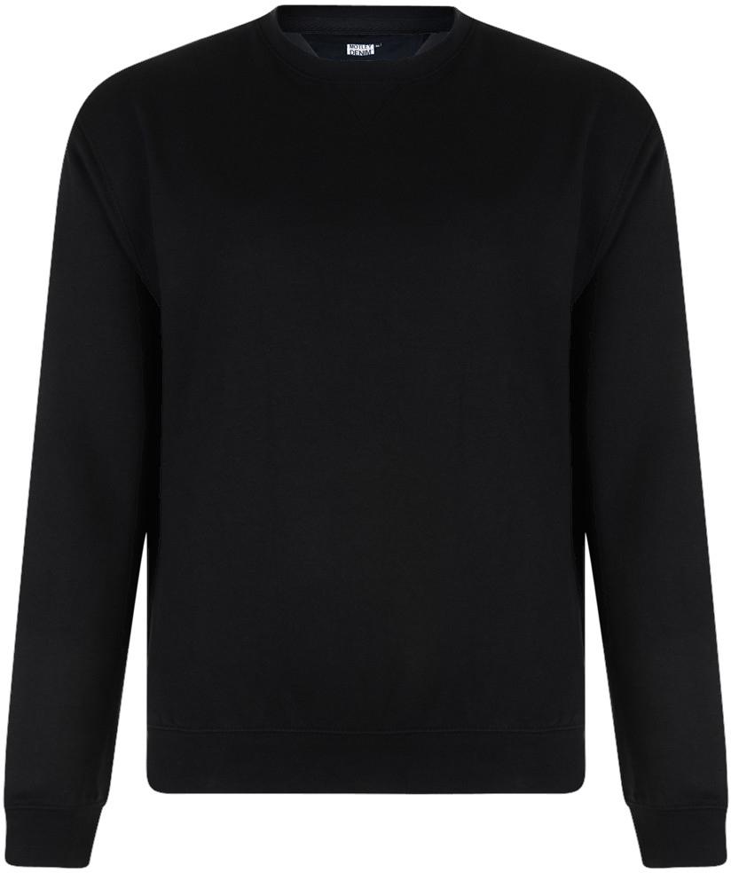 Motley Denim Tröja Svart - Tröjor   Hoodies - Stora hoodies - 2XL-8XL 9f10ed1c2f5f5