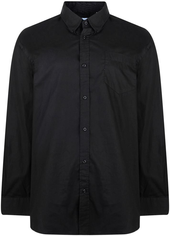 04b8857101eb Motley Denim Skjorta Svart Lång ärm - Skjortor - Stora skjortor - 2XL-8XL
