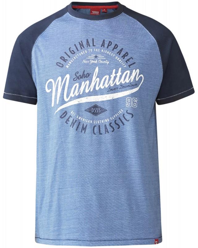 D555 Gunner T-shirt Blue i stora storlekar - MotleyDenim.se 8b01f38aa702f