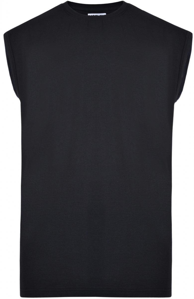 Motley Denim Ärmlös T-shirt Svart i stora storlekar - MotleyDenim.se f1a329934307b